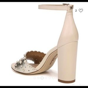 Ivory studded shoes